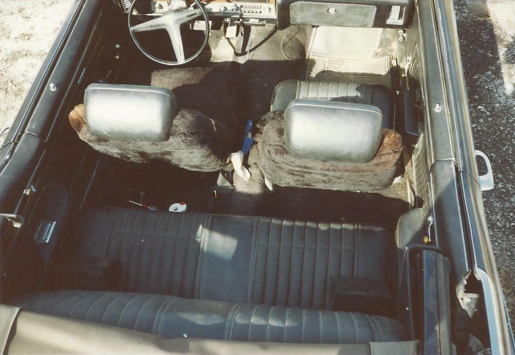 Rough interior 1970 GTO, cannot see duck tape for the fuzzy seat covers