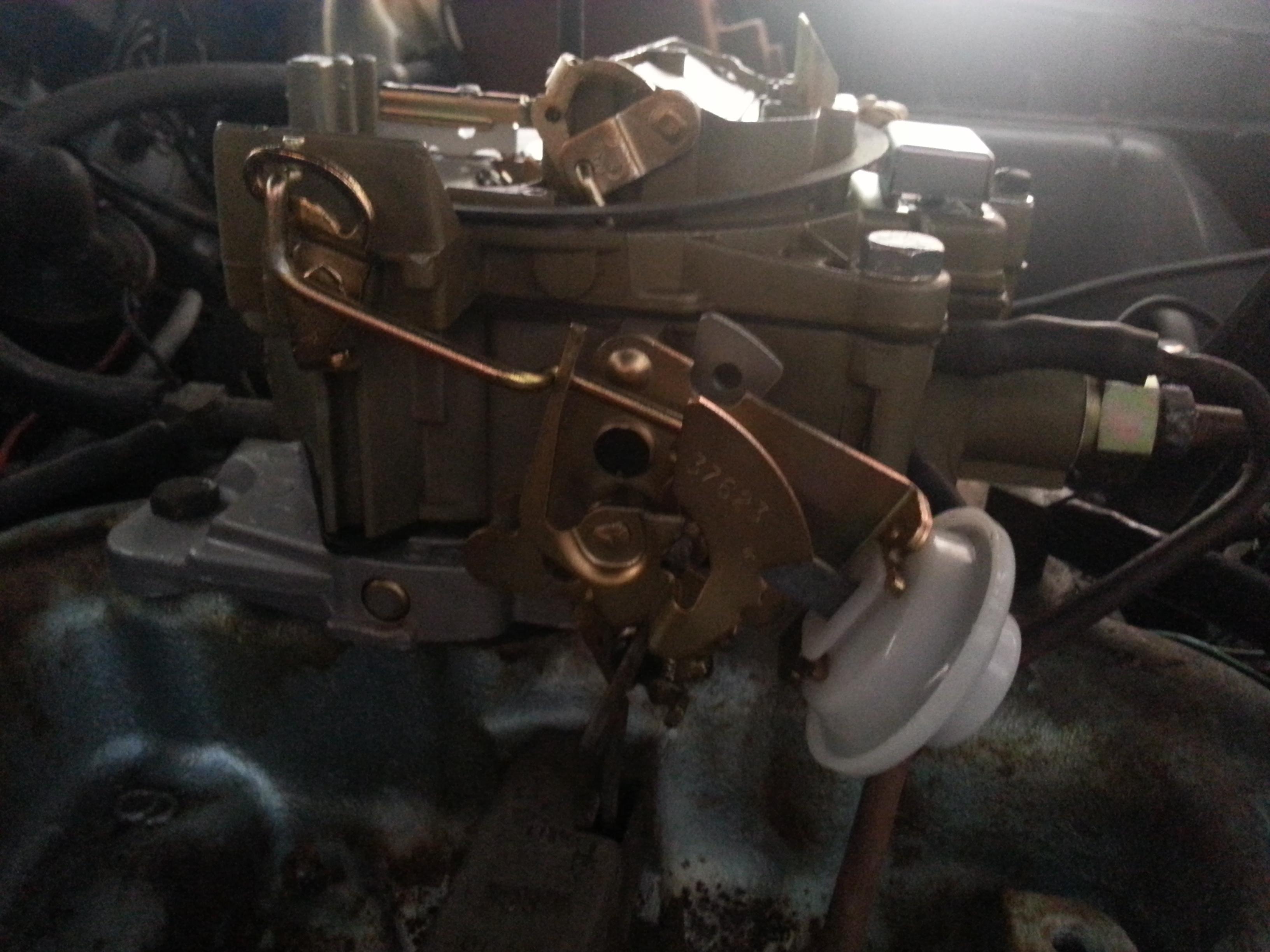 Pontiac Quadrajet Carburetor Removal And Replacement