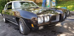 1970 Pontiac GTO Convertible-At Hillsboro car wash left front