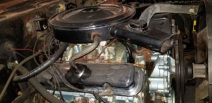 1970 Pontiac GTO Convertible-Engine before repaint