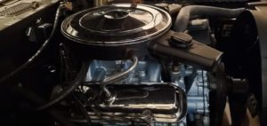 1970 Pontiac GTO Convertible-400 engine after paint refresh