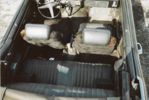 1970 Pontiac GTO Convertible-85 interior from top back