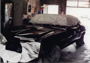 1970 Pontiac GTO Convertible-93 black paint front