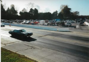 1970 Pontiac GTO Convertible-94 Wentzville MAR dragway taking off